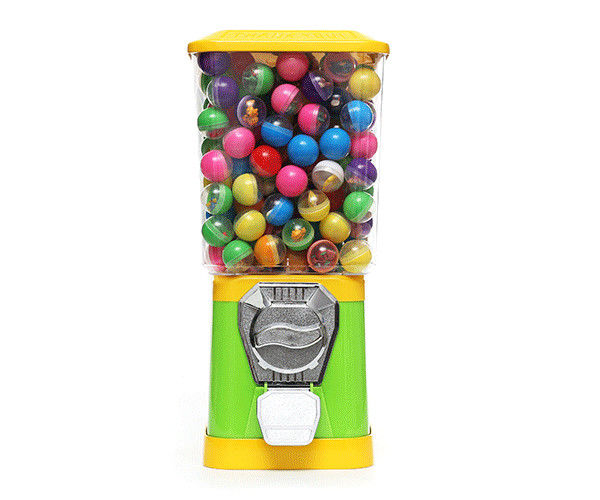 plastic Ball Vending Machine ,  coin operated Candy/Toys Dispenser